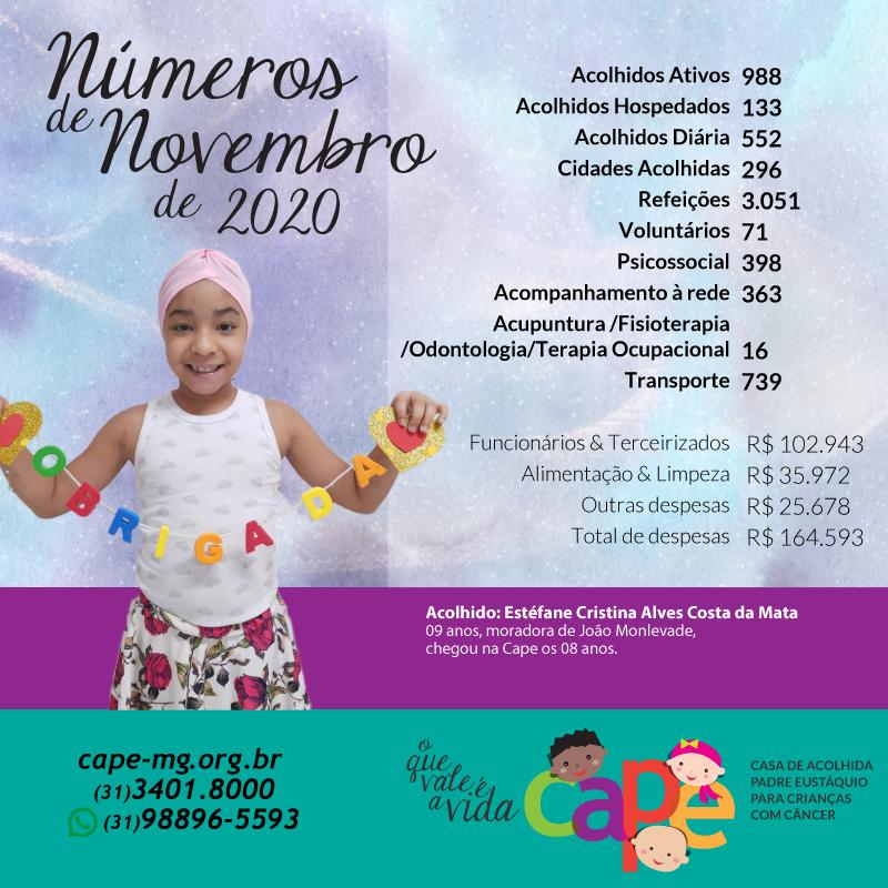 Números de Novembro 2020 – CAPE