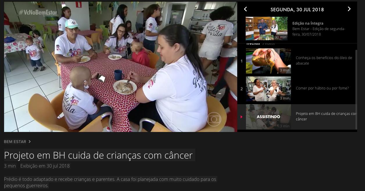 CAPE no programa do BEM ESTAR da Globo