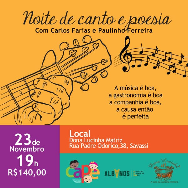 Noite de Canto e Poesia 2018 - CAPE
