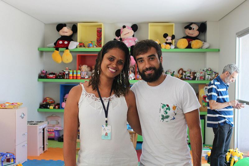 Visita do Gabriel Xavier, jogador do Cruzeiro - CAPE