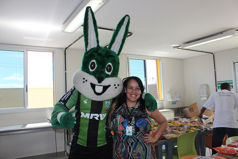 Visita das jogadoras do América Futebol Clube - CAPE