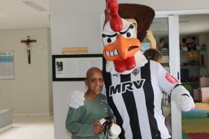 Visita do Mascote do Clube Atlético Mineiro